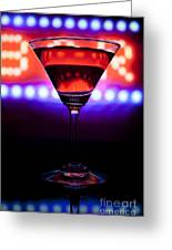 Martini Bar Greeting Card