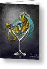 Martini Dragon Greeting Card