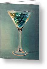 Martini Glass Greeting Card