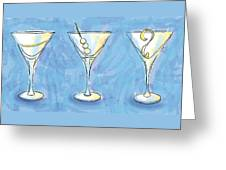 Martini Lunch Greeting Card