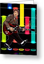 Marty Mcfly Plays Guitar Hero Greeting Card