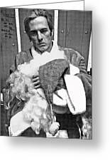 Marty Smith As Santa Claus Burger King Tucson Arizona 1982 Greeting Card