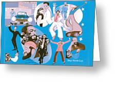 Marvin Gaye Timeline Portrait Greeting Card