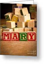 Mary - Alphabet Blocks Greeting Card