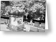 Mary And John Tyler Memorial Near Infrared Black And White Greeting Card