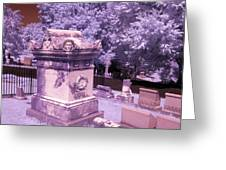 Mary And John Tyler Memorial Near Infrared Lavender And Pink Greeting Card