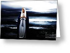 Mary By The Sea Greeting Card