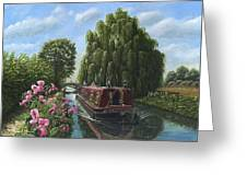 Mary Jane Chesterfield Canal Nottinghamshire Greeting Card