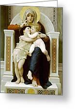 Mary Jesus And John The Baptist Greeting Card