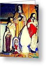 Mary Joseph And Jesus Vintage Religious Catholic Statues Patron Saints And Angels Cb Spandau Quebec Greeting Card