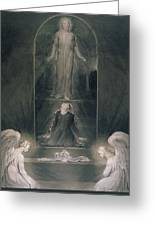Mary Magdalene At The Sepulchre Greeting Card by William Blake