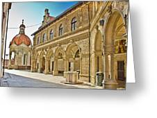 Mary Of Bistrica Shrine Architecture  Greeting Card