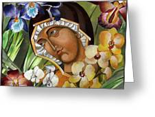 Mary Of The Orchids  Greeting Card