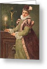 Mary Queen Of Scots Greeting Card by Sir James Dromgole Linton