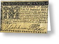 Maryland Bank Note, 1774 Greeting Card