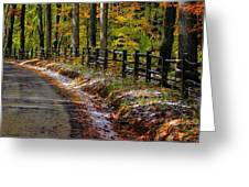 Maryland Country Roads - An Early Kiss Of Winter Greeting Card