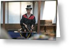 Maryland Renaissance Festival - Johnny Fox Sword Swallower - 121281 Greeting Card by DC Photographer