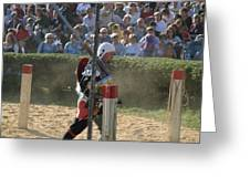 Maryland Renaissance Festival - Jousting And Sword Fighting - 1212119 Greeting Card by DC Photographer