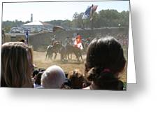 Maryland Renaissance Festival - Jousting And Sword Fighting - 1212203 Greeting Card by DC Photographer