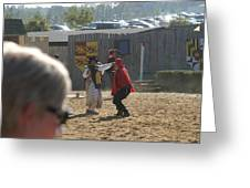 Maryland Renaissance Festival - Jousting And Sword Fighting - 1212213 Greeting Card by DC Photographer