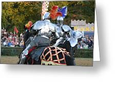 Maryland Renaissance Festival - Jousting And Sword Fighting - 121246 Greeting Card by DC Photographer