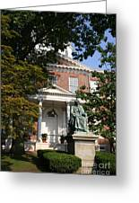 Maryland State House And Statue Greeting Card