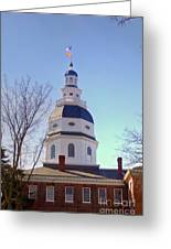 Maryland State House Dome Greeting Card