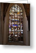 Mary's Deathbed Religious Art In Oude Kerk Greeting Card