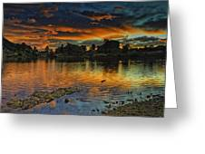 Mary's Lake Sunrise Greeting Card by Tom Wilbert
