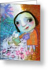 Mary's Quite Contrary Greeting Card by Shirley Dawson