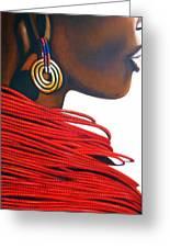 Masai Bride - Original Artwork Greeting Card