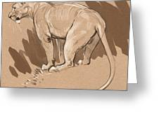 Masai Lioness Greeting Card by Aaron Blaise