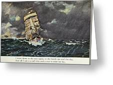 Masefield Sea Fever, 1902 Greeting Card