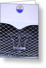 Maserati Emblems Greeting Card