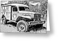 Mash Medic In Black And White Greeting Card