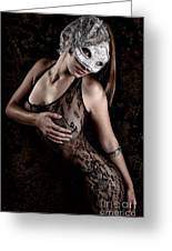 Mask And Lace Greeting Card