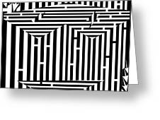 Mask Of The Maze  Greeting Card