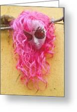Mask Pastel Chalk 2 Greeting Card