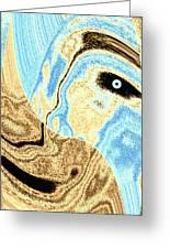 Masked- Man Abstract Greeting Card