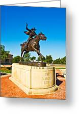 Masked Rider Statue Greeting Card