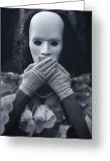 Masked Woman Greeting Card