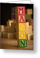Mason - Alphabet Blocks Greeting Card