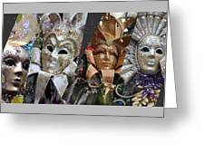 Masquerade Craziness Greeting Card