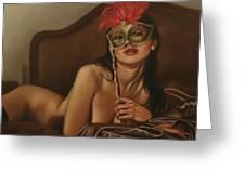 Masquerade I Greeting Card by John Silver