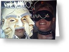 Masquerade Masked Frivolity Greeting Card