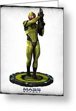 Mass Effect - Eclipse Soldier Greeting Card by Frederico Borges