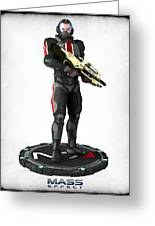 Mass Effect - N7 Soldier Greeting Card by Frederico Borges