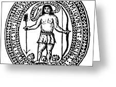 Massachusetts Bay Colonyseal, 1628 Greeting Card