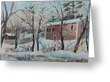 Massachusetts Snowfall Greeting Card