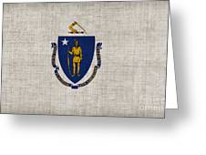Massachusetts State Flag Greeting Card by Pixel Chimp